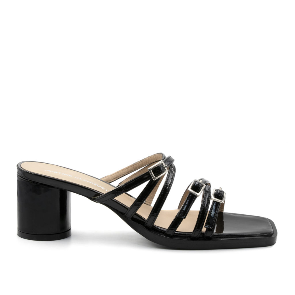 Jane black patent sandals