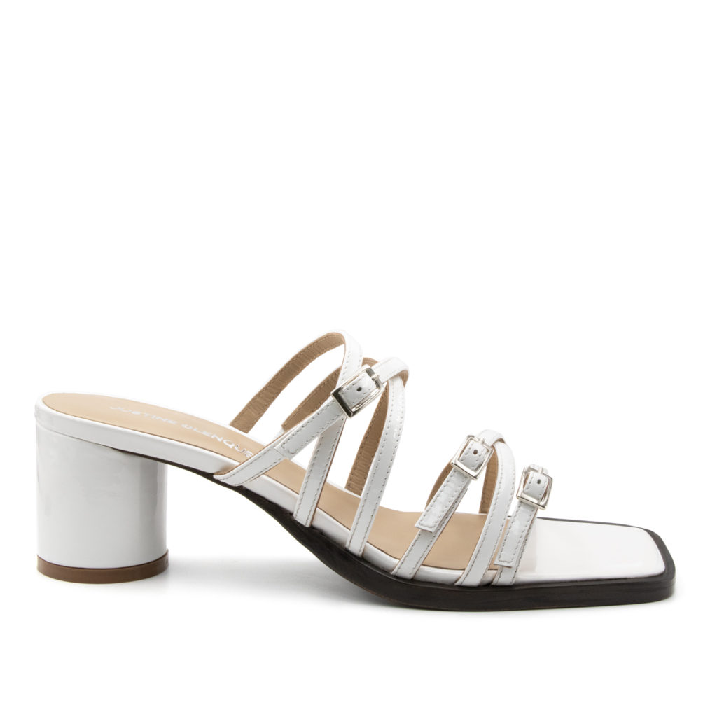 Jane white patent sandals