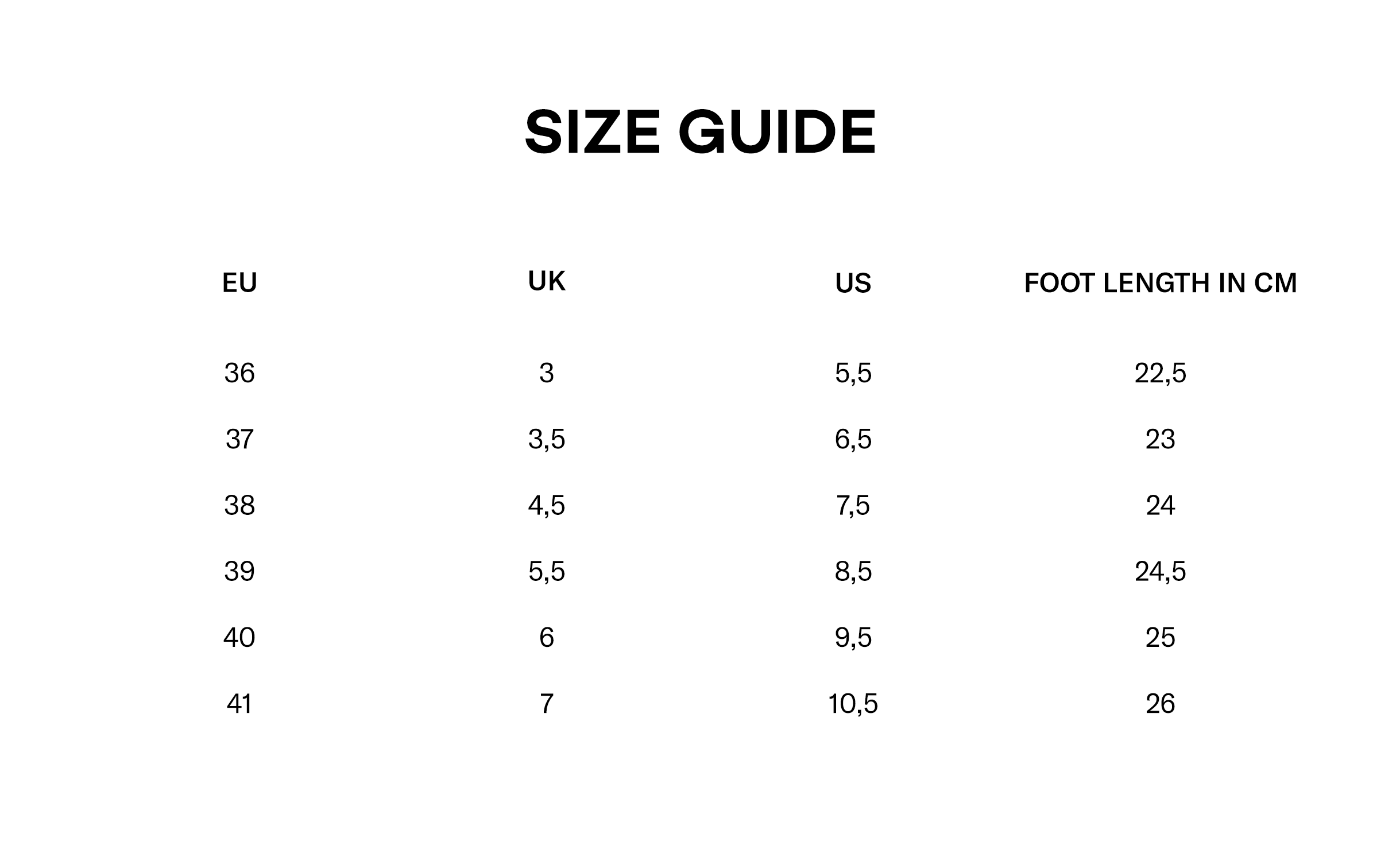 Justine Clenquet Size Guide