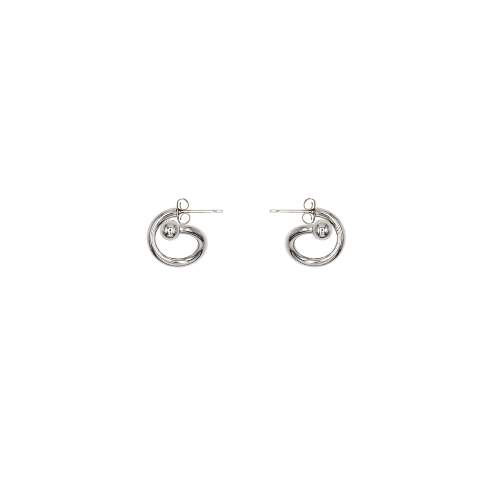 Mel palladium earrings