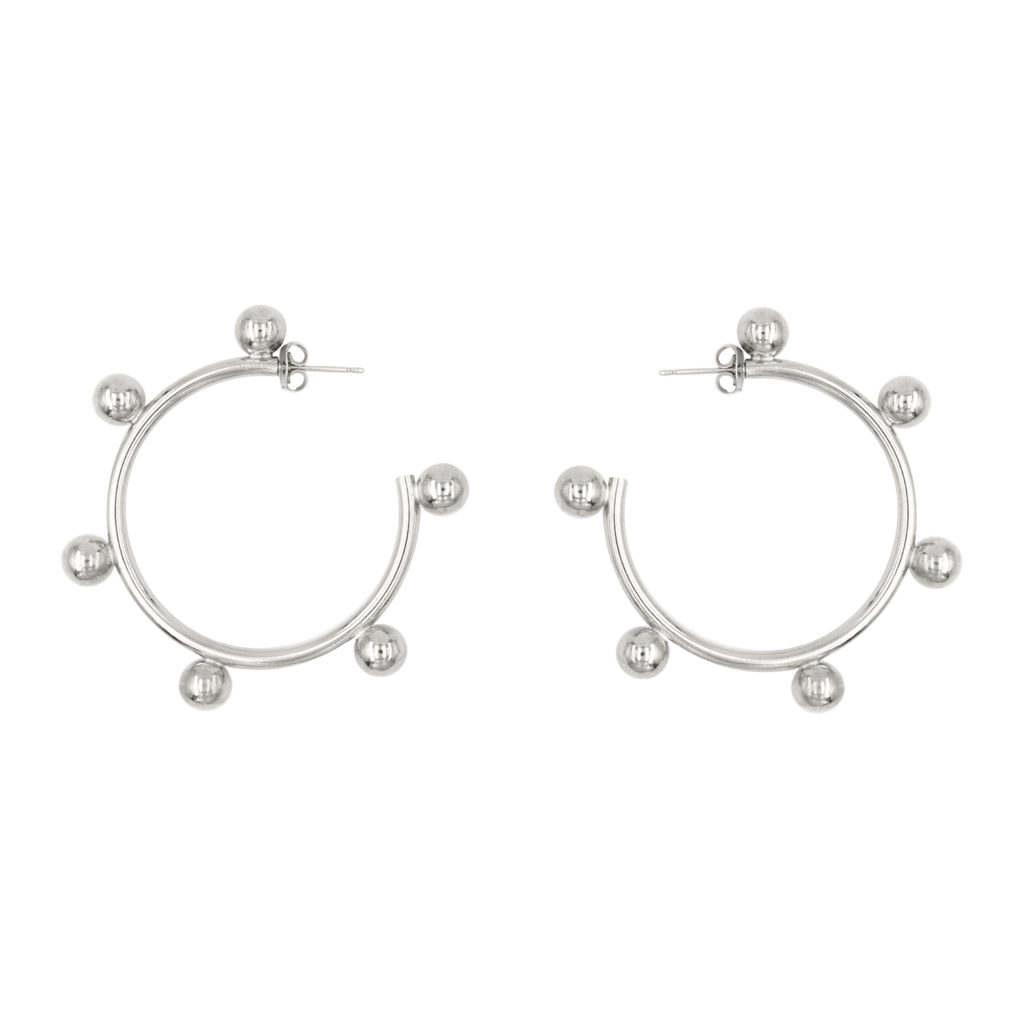 Paula palladium earrings